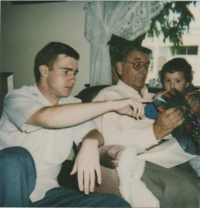 Me, my dad Bill Crooke and my little brother Joey Crooke when I'm about 16