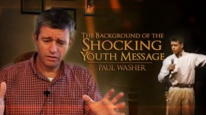 Picture of shocking youth message by Paul Washer