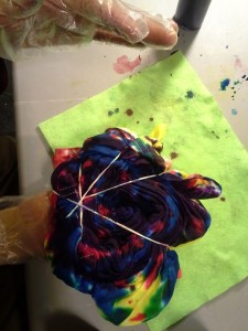 Creating a tie dye shirt