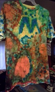 Wearable art shirt created by Rosco Crooke