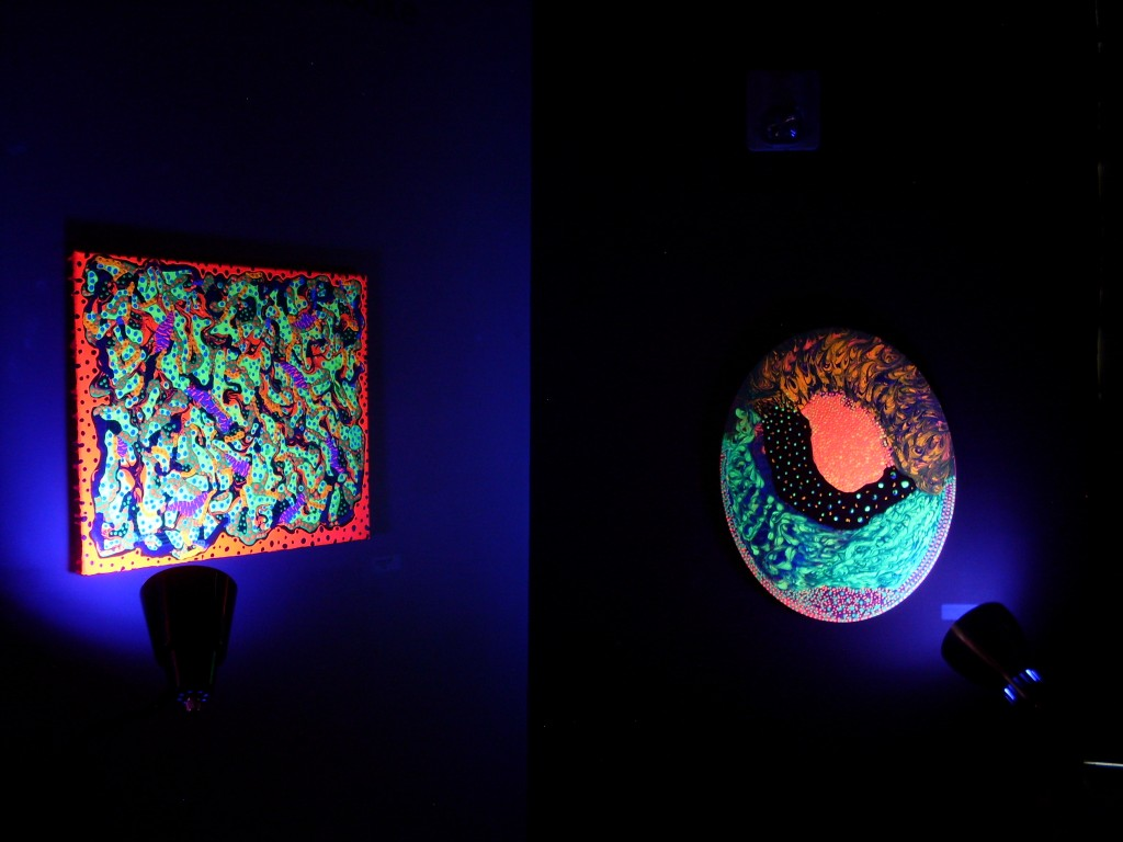 Rosco Crooke black light paintings gallery
